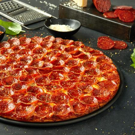 $31.99 for 3 Med. single top pizzas